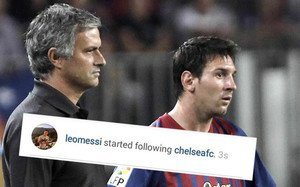 Messi empezó a seguir al Chelsea en Instagram