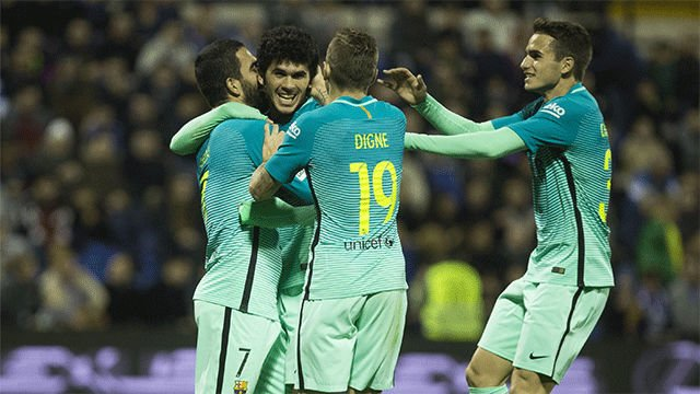 Video resumen Hércules - Barcelona (1-1). Copa del Rey, ida dieciseisavos