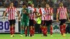 Los jugadores del Athletic celebran uno de los goles