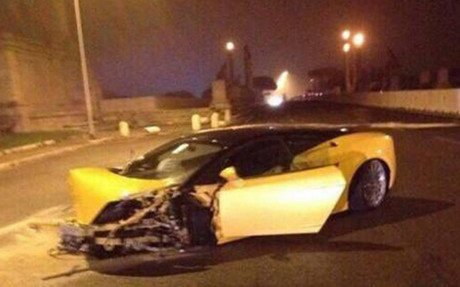 As� qued� el Lamborghini de Keita tras el accidente