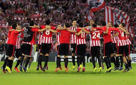 El Athletic celebr� la clasificaci�n por todo lo alto