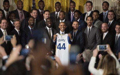 Barack Obama recibi� a los Warriors en la Casa Blanca