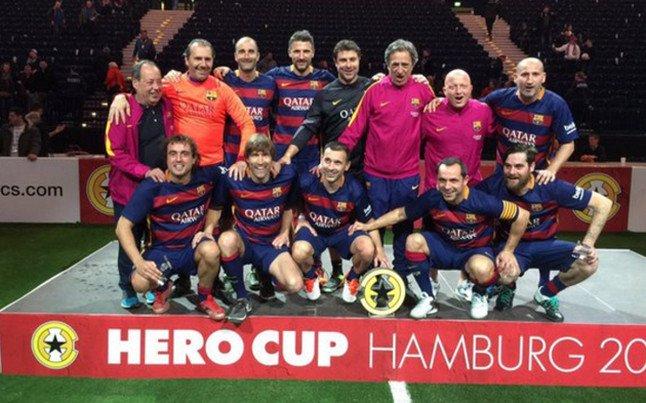 El FC Barcelona Legends, campe�n en Hamburgo