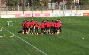 El Espanyol se está entrenando este lunes en cuadro