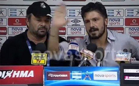 Gattuso tiene tambi�n mucho car�cter en las salas de prensa