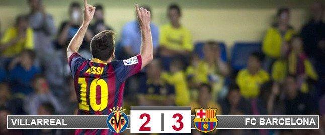 Messi celebró su gol alzando los brazos al cielo