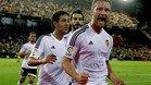 Shkodran Msutafi, celebrando un gol en Mestalla ante el Granada