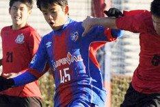 Take, en un partido con el Tokio FC