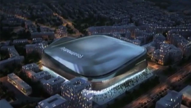 El Bernabéu tendrá techo retráctil y un panel envolvente