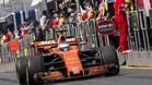 Alonso, durante la sesión en Melbourne