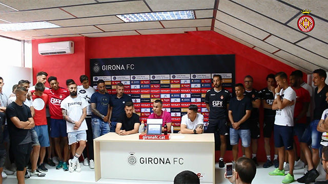 La rueda de prensa de los jugadores del Girona