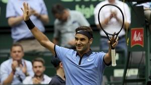 Federer ya es un habitual en los cuartos de final de Halle