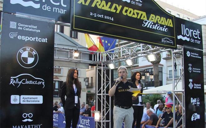 �lex Roman�, en el podio de salida del Rally Costa Brava