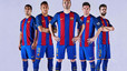 Barcelona present their new home shirt for the 2016-17 season