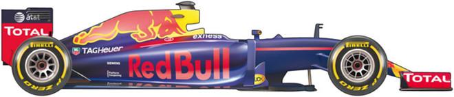 El coche de Red Bull para el Mundial 2016 de F1