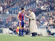 Cruyff y Guardiola en el Camp Nou
