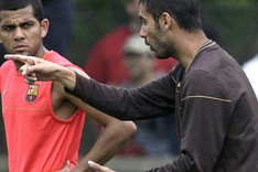 Dani Alves es un admirador total de Pep Guardiola
