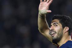 Luis Su�rez, delantero del FC Barcelona