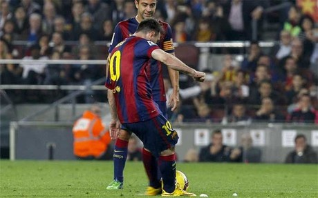 Messi marc� un gol espectacular