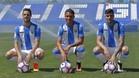 Pérez, Machís y Rico, en su presentación como nuevos jugadores del Leganés
