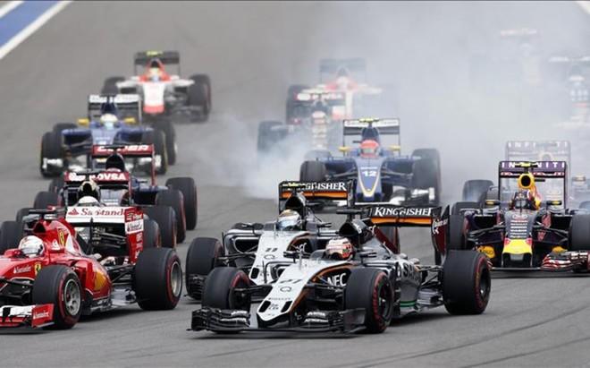 Salida del GP de Rusia de 2015