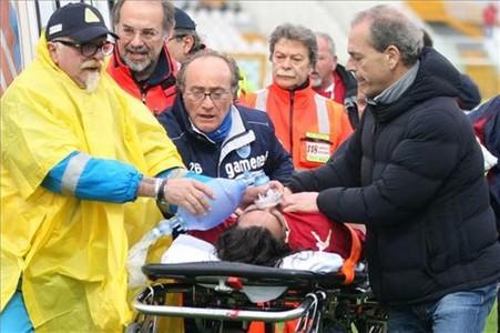 Morosini fue evacuado en ambulancia hasta un hospital próximo donde falleció