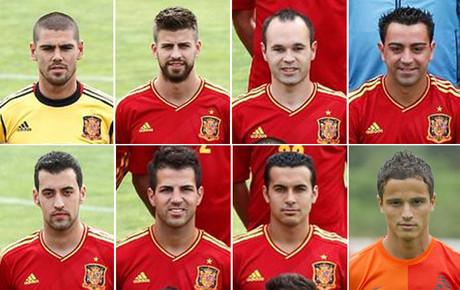 Estos son los ocho jugadores del Barça presentes en la Eurocopa 2012