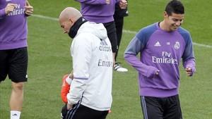 Zidane habló sobre James Rodríguez en rueda de prensa