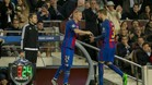 Mathieu sustituyó a Piqué ante el City