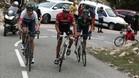 Marc Soler, el mejor joven de la Volta, haciendo su trabajo ante Contador, Valverde y Froome
