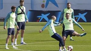 Andrés Iniesta se perdió la última sesión de entrenamiento