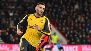 Lucas Pérez en el Arsenal