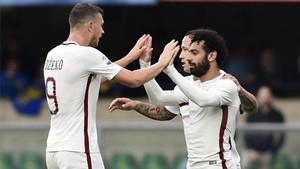 Dzeko y Salah volvieron a resultar letales