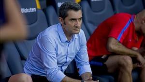 Valverde no le hizo el pasillo al Barcelona cuando ganó la Supercopa de Europa