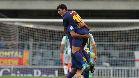 Aleñá se acerca a Messi