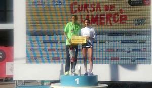 Mourad El Bannouri y Lidia Rodríguez, en el podio