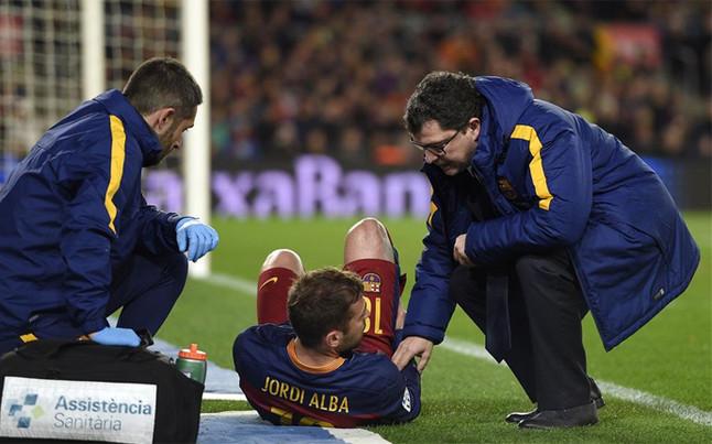 Jordi Alba, diez d�as de baja