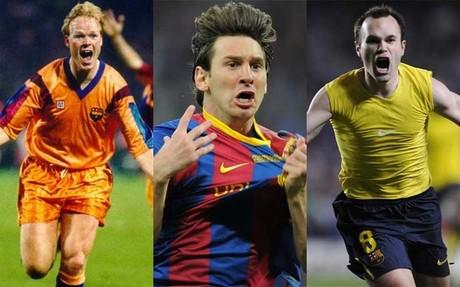 Bakero, Messi, Iniesta, protagonistas ilustres en la historia azulgrana en Copa de Europa