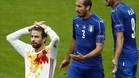 Gerard Piqu� lament� la eliminaci�n de Espa�a ante Italia