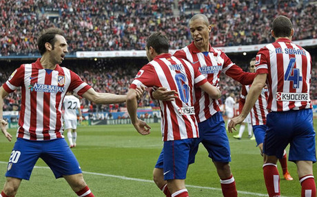 Koke and Juanfran in action for Atletico