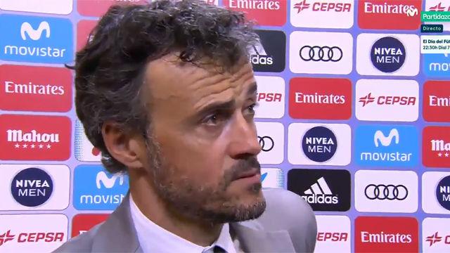 Luis Enrique analizó el partido del Barça