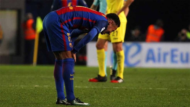 Neymar está gafado ante la portería contraria