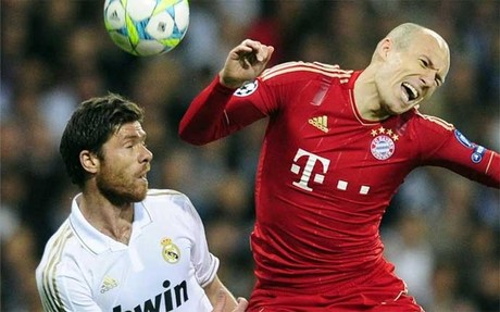 Robben en una accin del partido