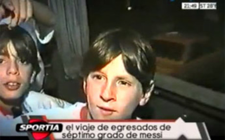 Footage emerges of Lionel Messi on a school trip in 1999 aged 12