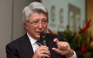 Enrique Cerezo, presidente del Atlético