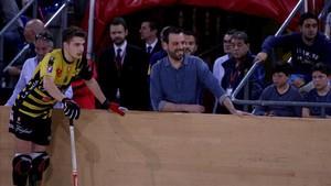 Ricard Muñoz recibió el cariño del Palau tras anunciar que no seguirá