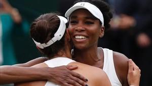 Venus Williams elogió el buen juego de Garbiñe Muguruza