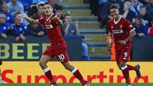 Coutinho fue determinante en el gol del Liverpool