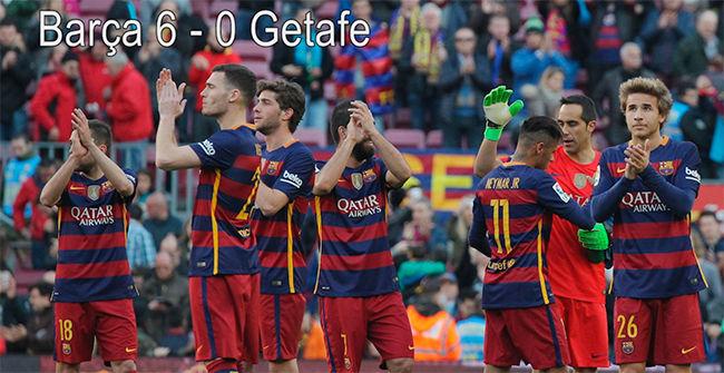 El Barça exhibe su poderío frente a un Getafe que huele a Segunda A