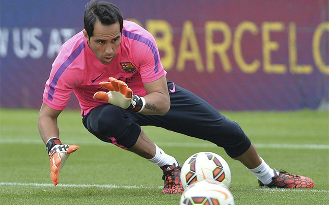 Claudio Bravo jugará sus primeros minutos como barcelonista